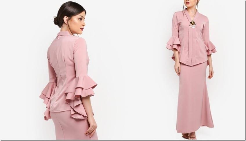 pink-tiered-ruffle-sleeve-kebaya