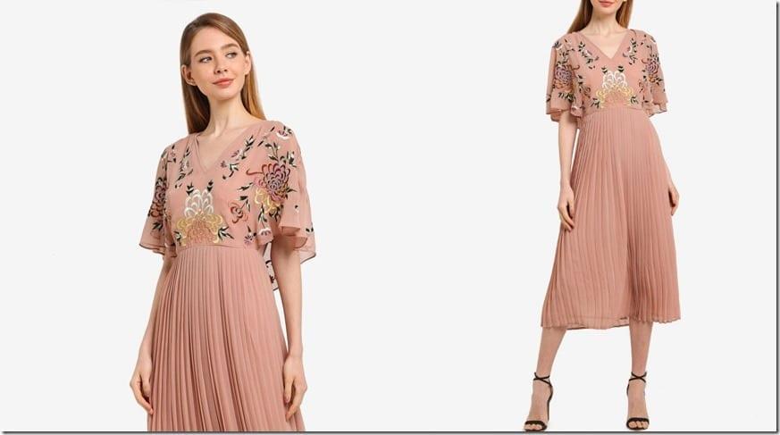 tie-back-vneck-embellished-midi-dress