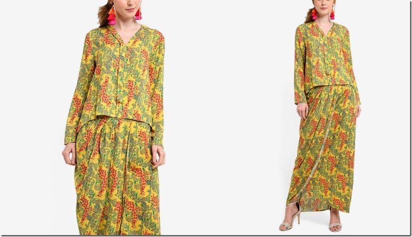 yellow-floral-high-low-flare-kebaya