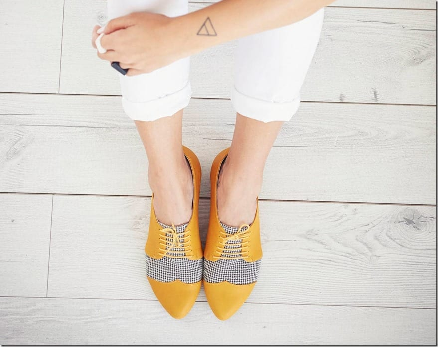 yellow-houndstooth-oxford-leather-shoes