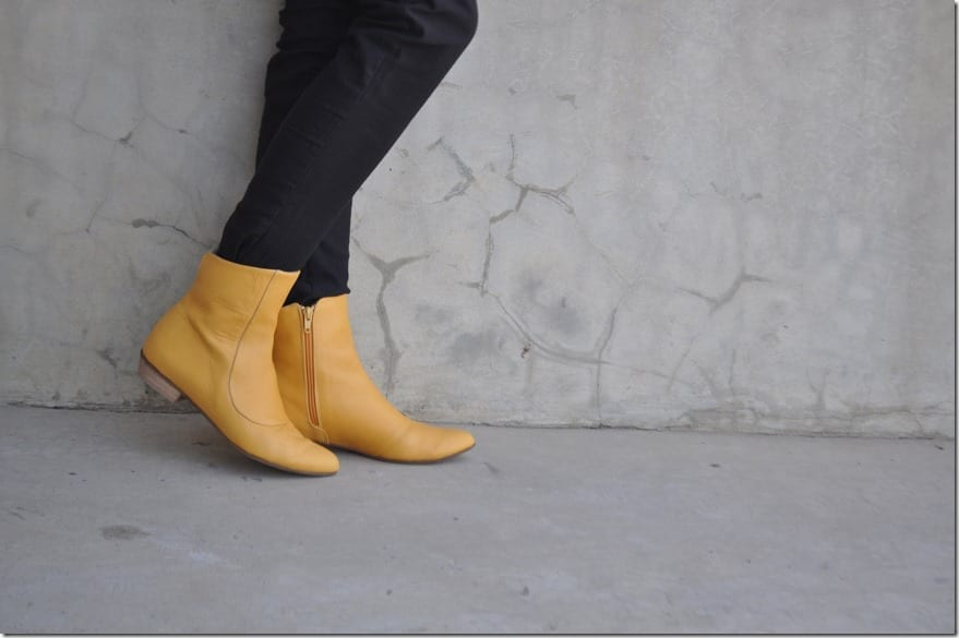 yellow-leather-zipper-boots