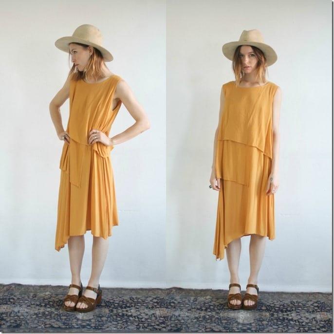 asymmetrical-tiered-yellow-midi-dress