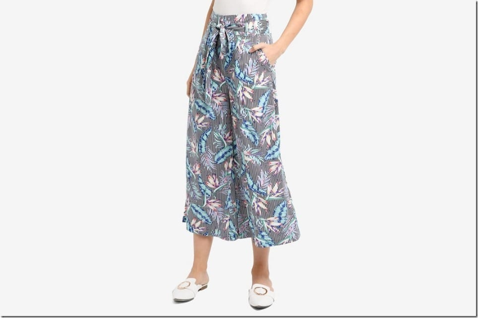 Ankle Game Strong In This Belted Midi Palazzo Pants