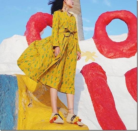 cactus-yellow-waist-tie-midi-dress