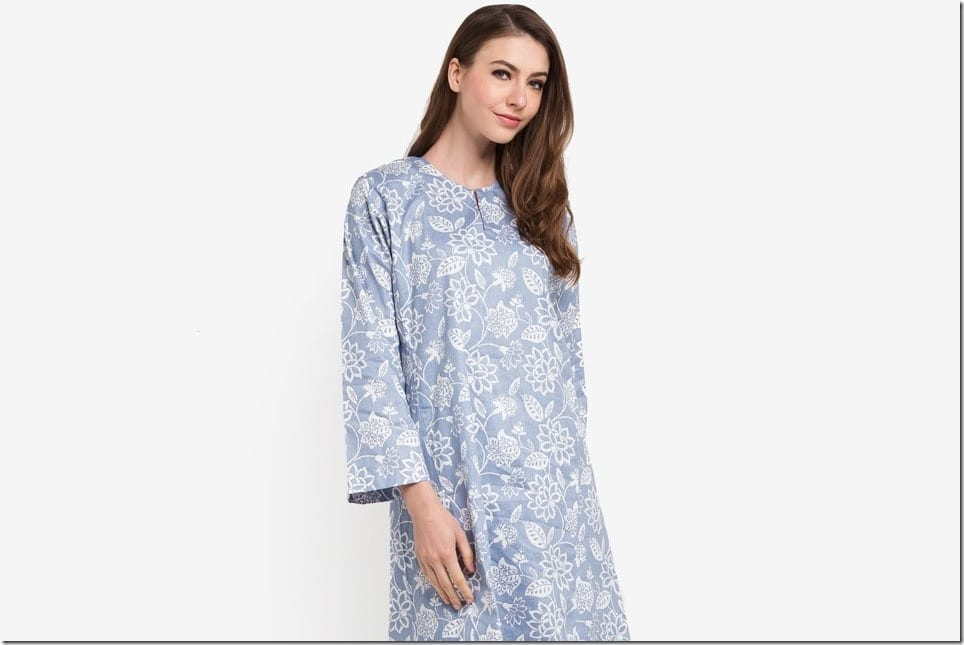 Slay It Minimalistically In Pastel Floral Kurung Pahang This Eid 2018