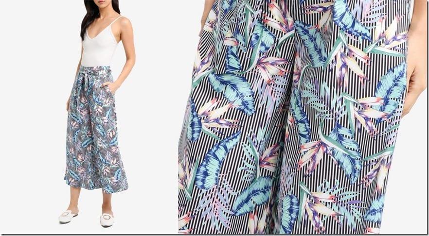 floral-stripe-flare-pants