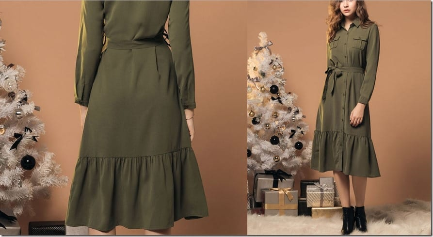 green-midi-belted-shirt-dress