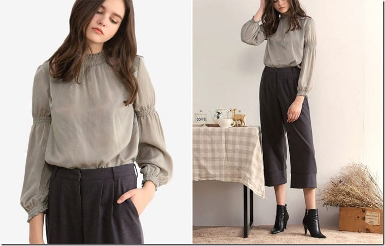 grey-balloon-sleeve-blouse