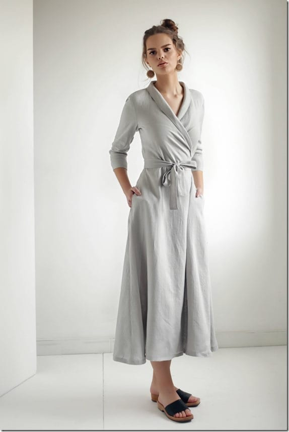 grey-linen-wrap-dress