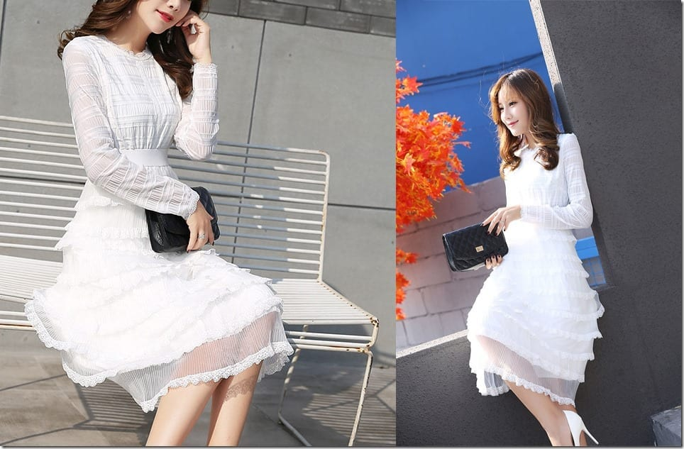 high-neck-lace-layered-swing-dress