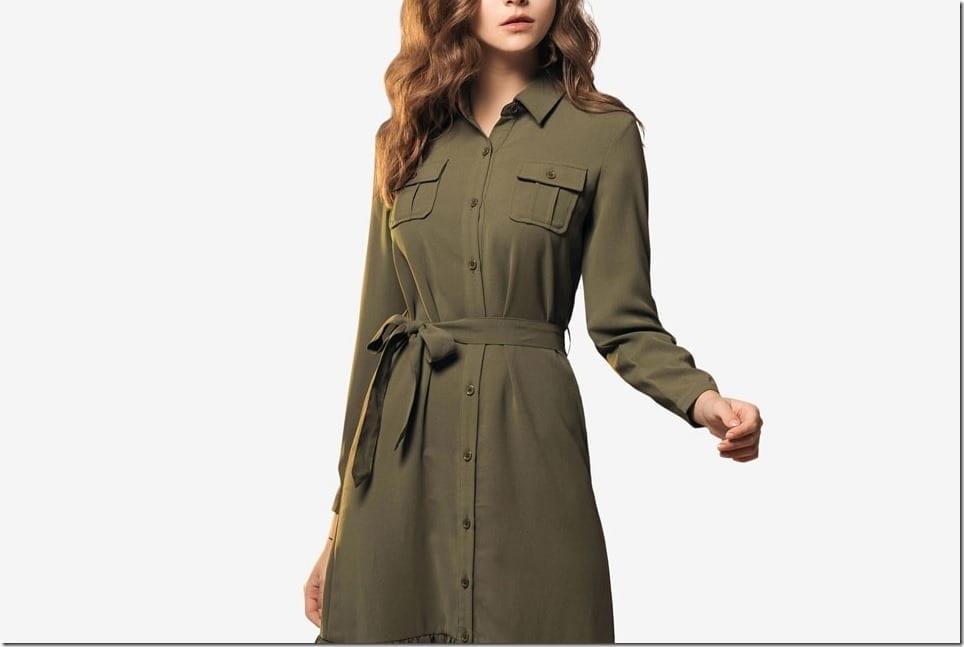 A Midi Shirt Dress Update With Ruffle Hem Style