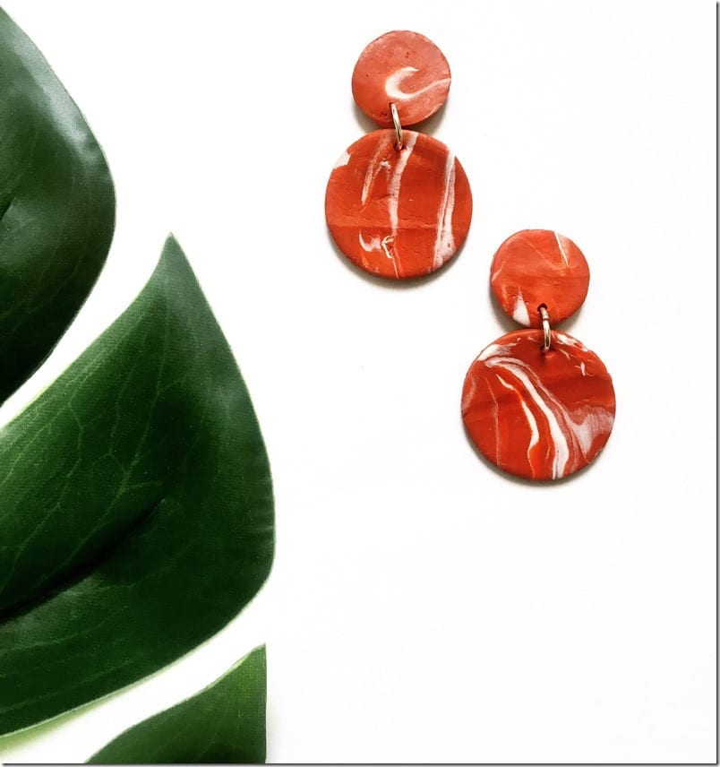 statement-orange-circle-clay-earrings