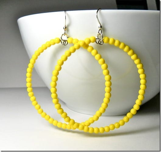 statement-yellow-beaded-hoop-earrings