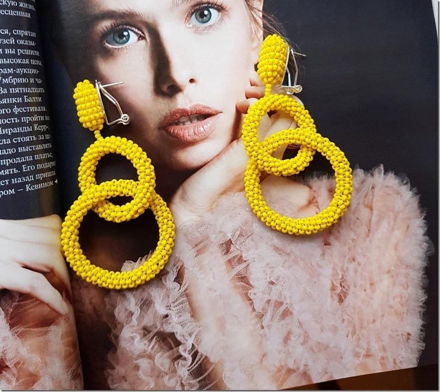 How To Wear Yellow Through Eye-Popping Hoop Style Earrings?