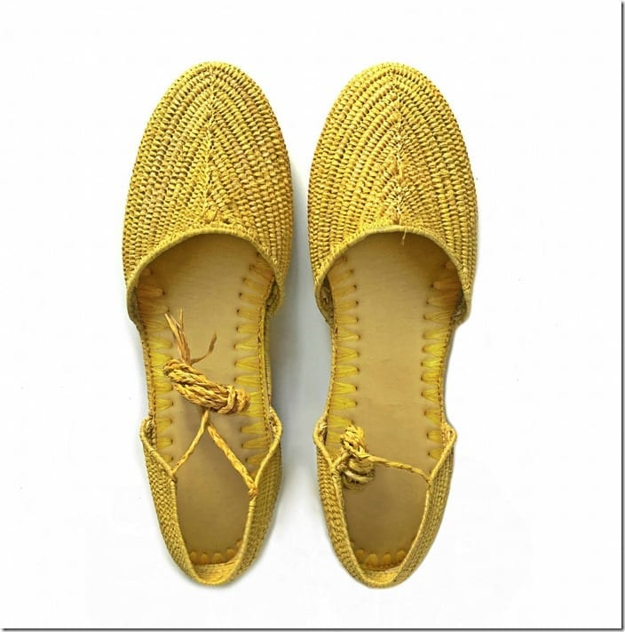 yellow-raffia-lace-up-sandals