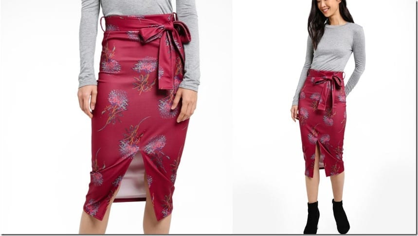 belted-front-split-floral-pencil-skirt