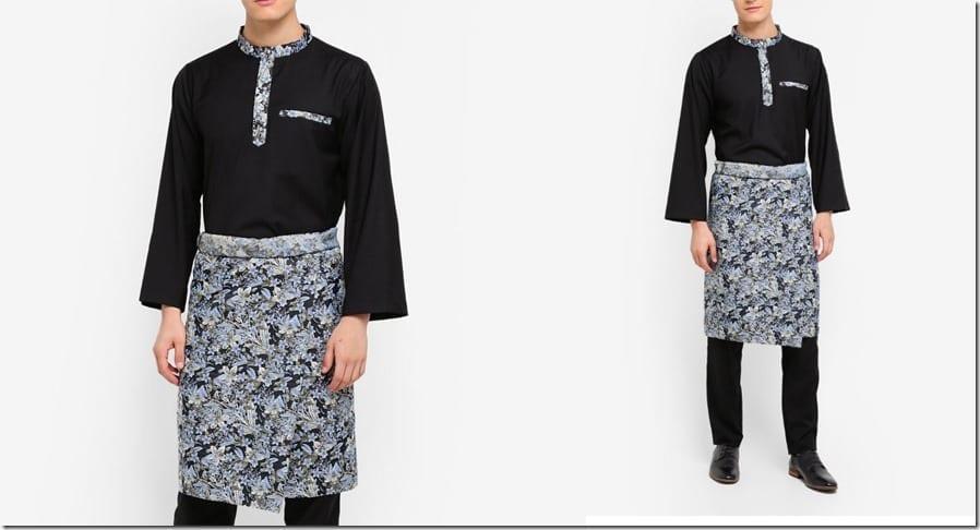 black-jacquard-baju-melayu-set