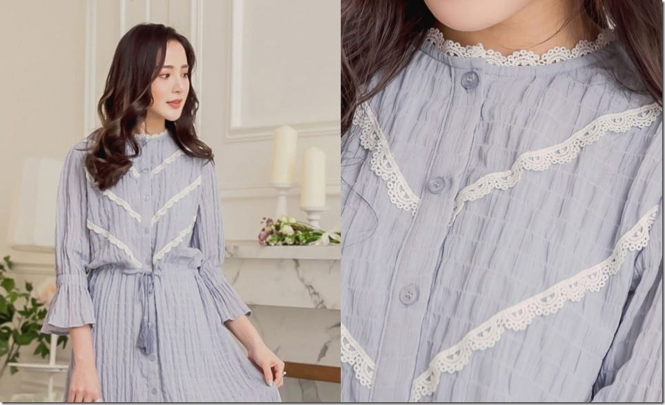 The Button Up Trumpet Sleeve Dress Style For A Breezy Summer OOTD