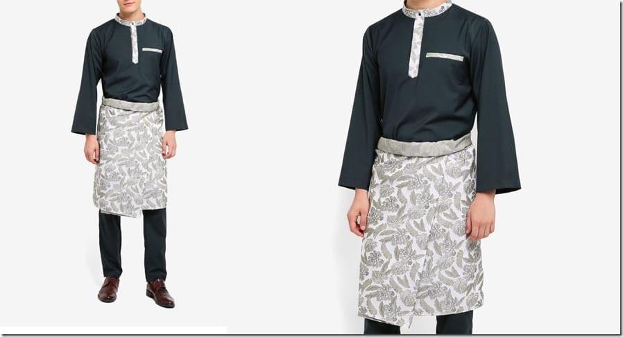 green-jacquard-baju-melayu-set