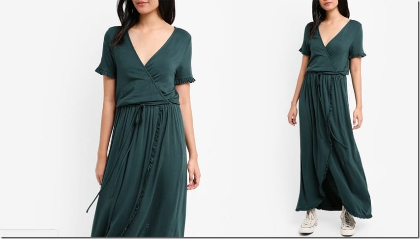 green-maxi-wrap-dress