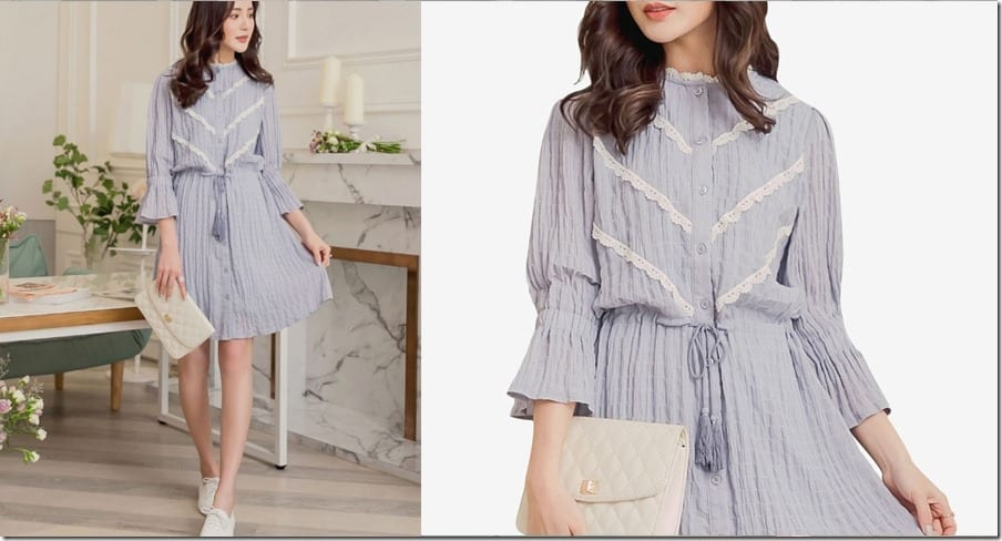 pale-blue-button-up-trumpet-sleeve-dress