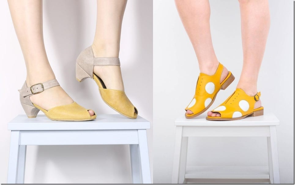 Make These Leather Peep Toe Sandals Your Summer Footwear Go-To