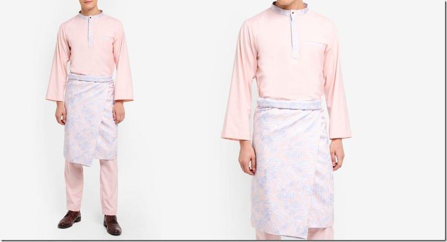 pink-jacquard-baju-melayu-set