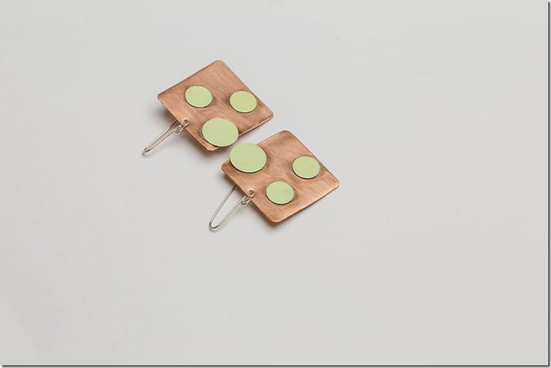 seafoam-green-polka-dot-square-copper-earrings