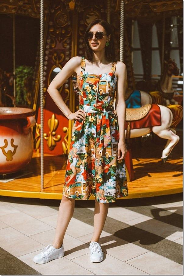 vintage-style-floral-hawaii-midi-sundress