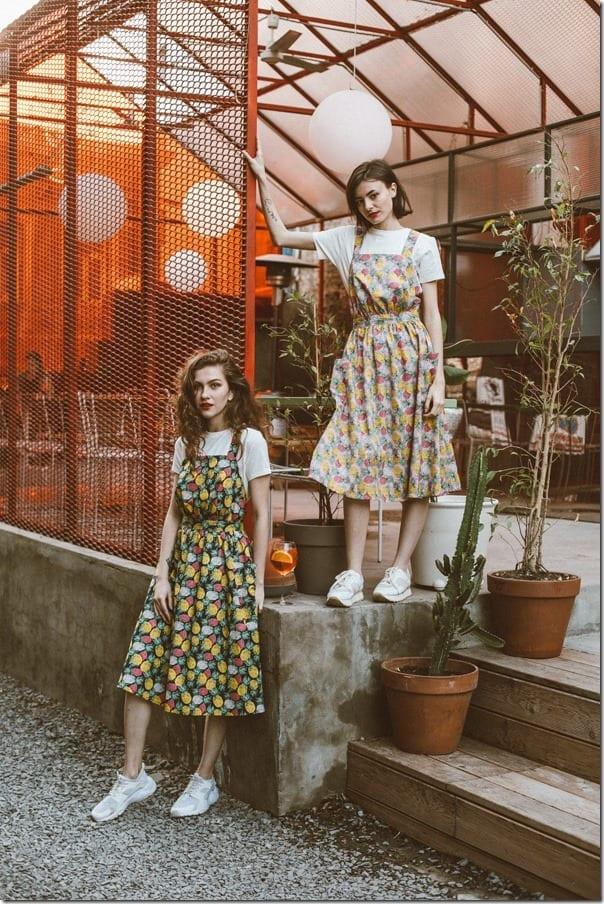 vintage-style-pinapple-print-midi-sundress