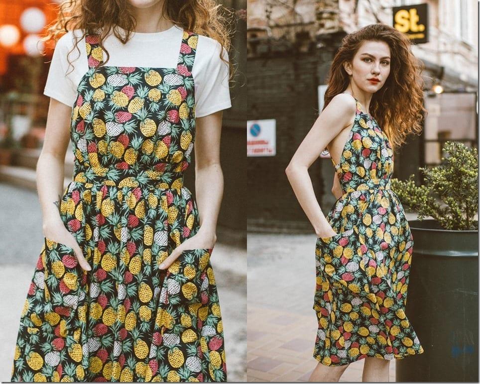 A Midi Sundress Style With Vibrant Happy Prints