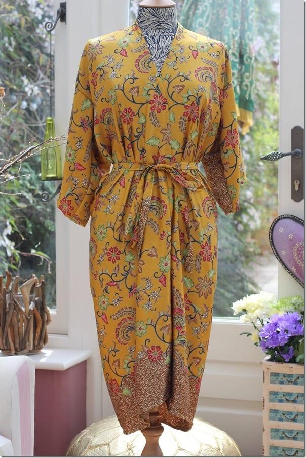 yellow-floral-silk-kimono-robe