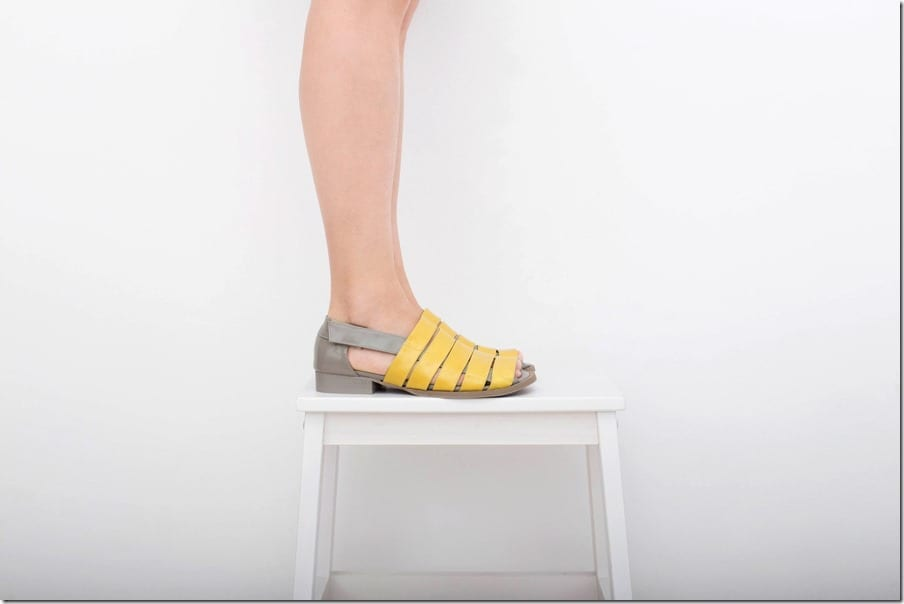 yellow-gray-strappy-peep-toe-leather-sandals