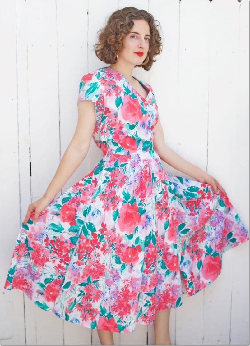 80s-watercolor-floral-dress