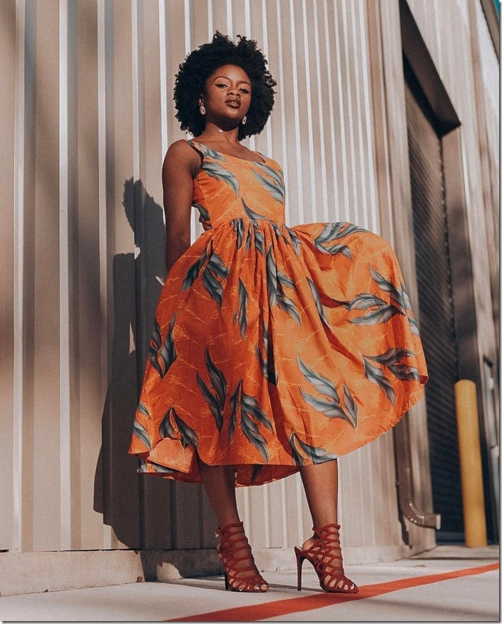 ankara-style-midi-fit-flare-dress