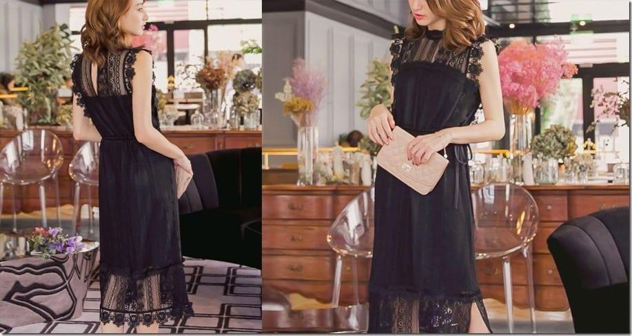 black-lace-shift-midi-dress