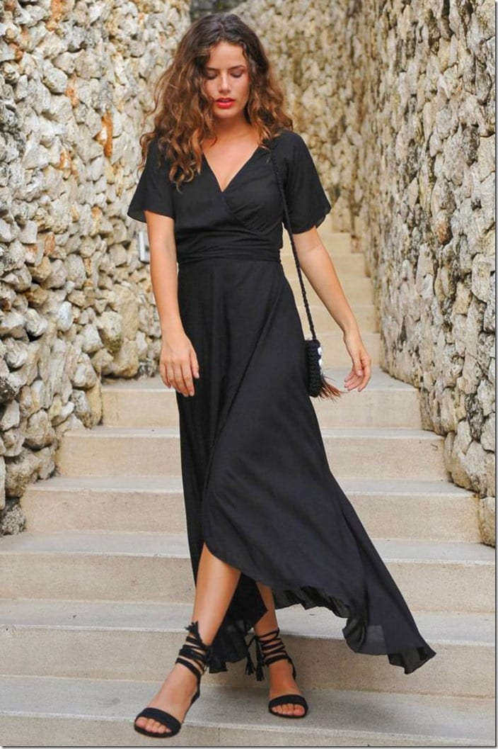 black-summer-maxi-wrap-dress