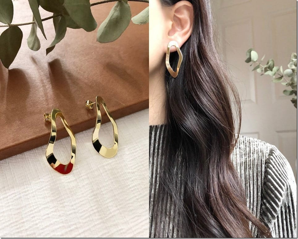 Curvy And Wavy Earrings For Your Ears