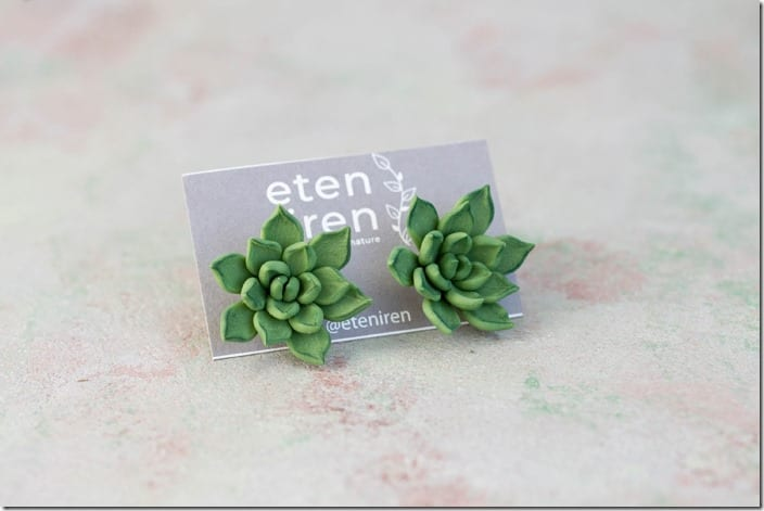 green-succulent-stud-earrings