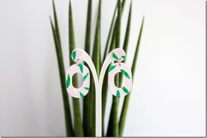 green-tropical-drop-hoop-earrings