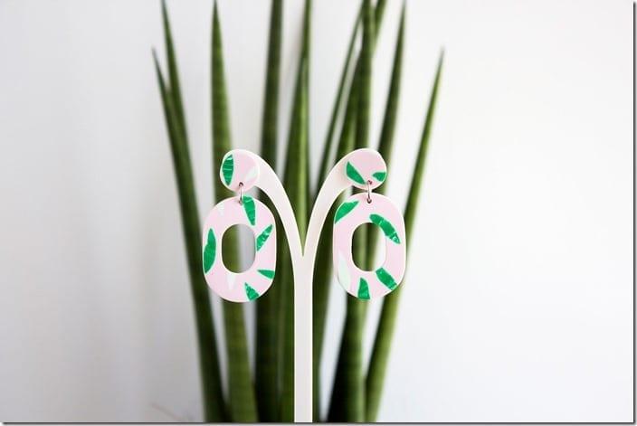 green-tropical-drop-hoop-earrings