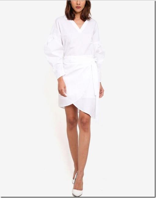 long-sleeve-wrap-detail-dress