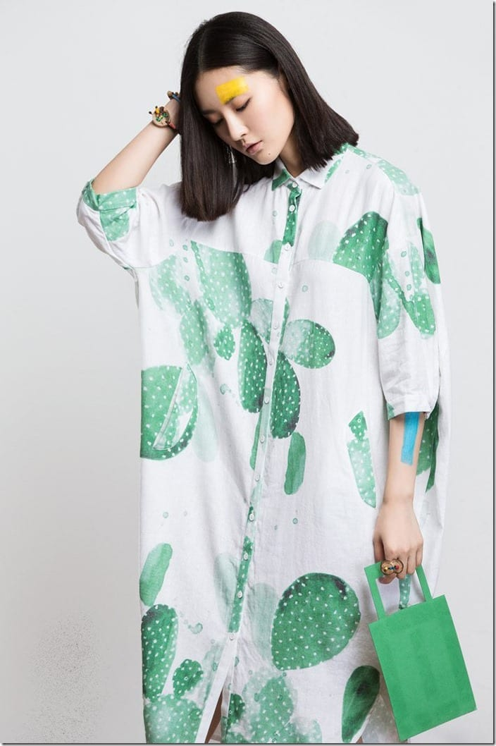 loose-fit-cactus-print-collared-dress
