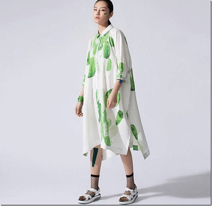 loose-fit-cactus-print-shirt-dress