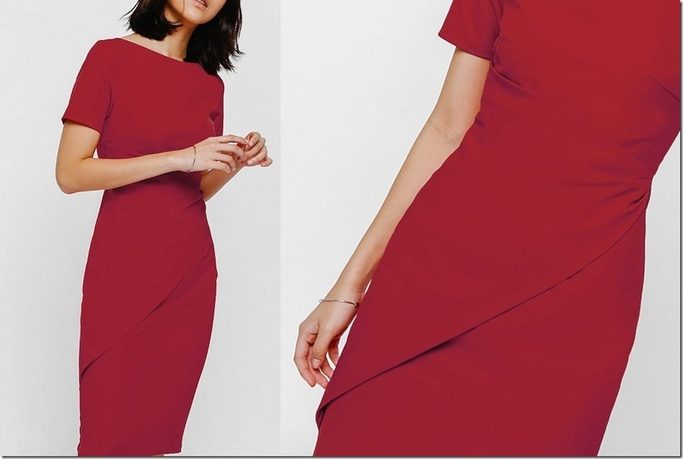 Stand Out In These Low-key Chic Midi Red Dresses