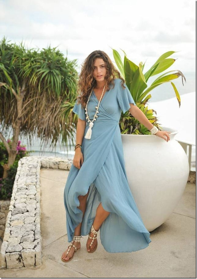The Minimalist Maxi Wrap Dress Style With Strong Summer Vibes