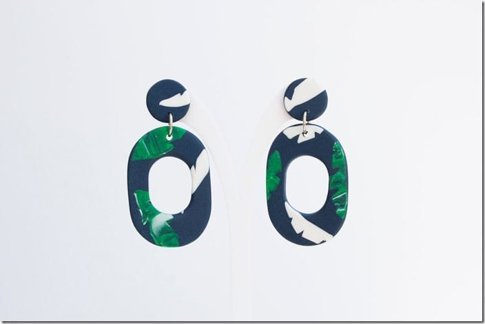 navy-tropical-drop-hoop-earrings