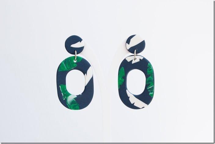 navy-tropical-drop-hoop-earrings