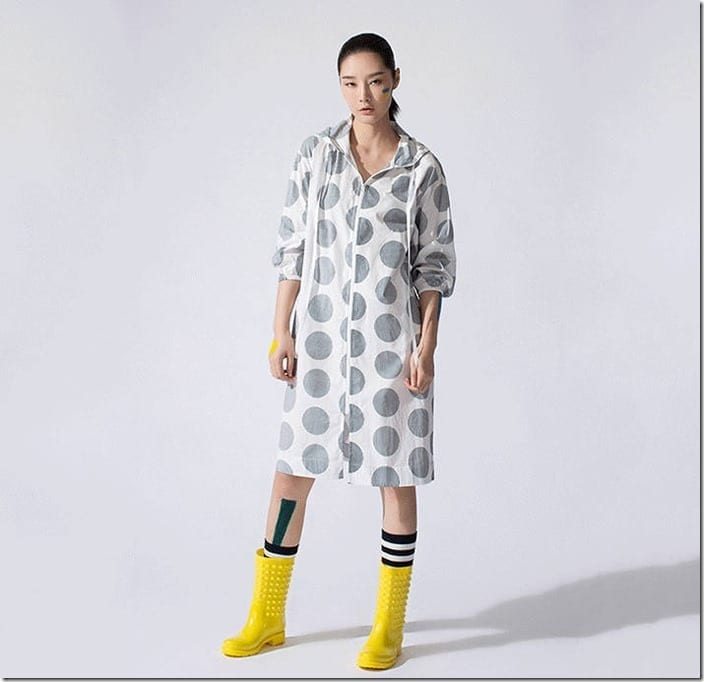 polka-dot-hooded-zipper-dress