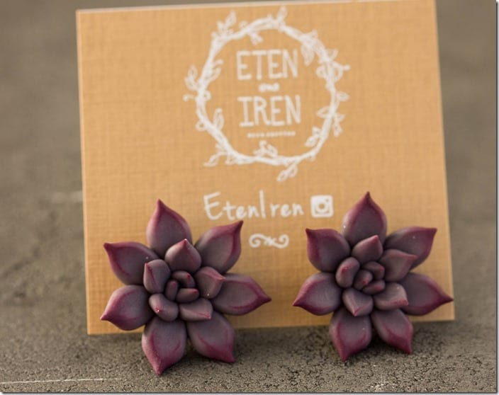 purple-succulent-stud-earrings